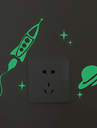 AYA DIY Wall Stickers Luminous Airship Style Switch Stickers 10*12cm