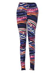 cheap -Women 's Casual Fashion Printed Knit Tight Pants Pencil Trousers Pants