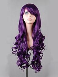 Недорогие -Парики из искусственных волос Волнистый плотность Без шапочки-основы Жен. Фиолетовый Парики для косплей Очень длинный Искусственные волосы