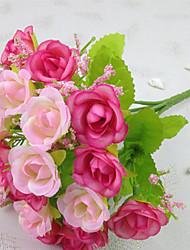 baratos -Flores artificiais 1 Ramo Estilo Moderno Rosas Flor de Mesa