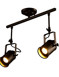 cheap -Vintage Ceiling Light Fixture, 2-Light Industrial Lamp For Living Room, Dining Room Bar Foyer Hallway Clothing Store Spot Lights