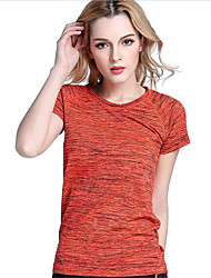 cheap -Women's Running T-Shirt Short Sleeves Quick Dry Breathable T-shirt Top for Yoga Exercise & Fitness Racing Basketball Football/Soccer