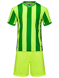 Men's Soccer Clothing Sets/Suits Breathable Comfortable Summer Patchwork Terylene Football/Soccer White Green Blue