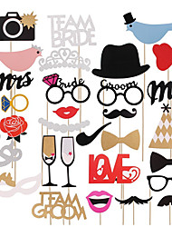 31piece/set Love Bird Mr Mrs Just Married Funny Photo Booth Props Bride Groom Sparkling Wedding Decoration Bridal Shower Event Party Supplies