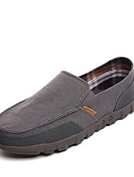 abordables -Homme Chaussures Toile de jean Printemps / Eté / Automne Confort Mocassins et Chaussons+D6148 Beige / Gris / Bleu