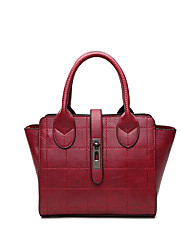 Women Bags All Seasons PU Tote for Event/Party Casual Sports Formal Black Sillver Gray Wine