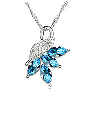 Women's Pendant Necklaces Crystal Chrome Euramerican Simple Style Adorable Personalized Yellow Red Light Blue Jewelry ForWedding Party