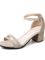 abordables -Mujer-Tacón Robusto Talón de bloque-Confort-Sandalias-Vestido Informal-Semicuero-
