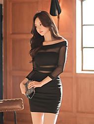 2017 printemps nouveau collier coréen mince paquet hip sexy robe sans bretelles bottoming