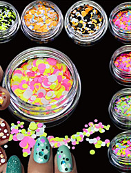 cheap -12bottles/set Tools & Accessories Nail Jewelry Nail Glitter Sequins Sparkle & Shine Luxury Fashionable Design Sequins Sparkling High
