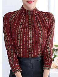 Sinal novo outono e inverno 2016 camisa coreana da blusa da camisa do chiffon das mulheres