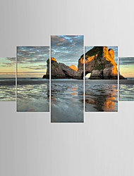 Photographic Print Famous Modern Mediterranean,Five Panels Canvas Any Shape Print Wall Decor For Home Decoration