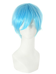 Light Bule Color Straight Hair European Cosplay Synthetic Wigs