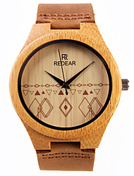 cheap -Women's Dress Watch Wrist watch Japanese Quartz Wooden Leather Band Charm Brown