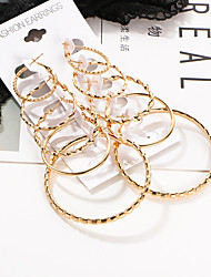 cheap -Women's Hoop Earrings - Basic, Punk, Hip-Hop Gold For Wedding / Party / Daily