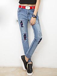 il nuovi jeans femminili harem pants versione coreana del cerotto stampa pantaloni jeans sciolto piedi pantaloni mendicante femminile
