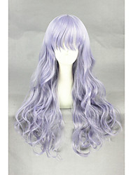 Medium Long Wave Light Purple Synthetic 26inch Anime Lolita Wig CS-280A