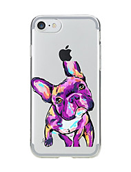For iPhone X iPhone 8 Case Cover Transparent Pattern Back Cover Case Dog Soft TPU for Apple iPhone X iPhone 8 Plus iPhone 8 iPhone 7 Plus
