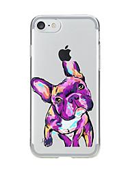 Pour iPhone X iPhone 8 Etuis coque Transparente Motif Coque Arrière Coque Chien Flexible PUT pour Apple iPhone X iPhone 8 Plus iPhone 8