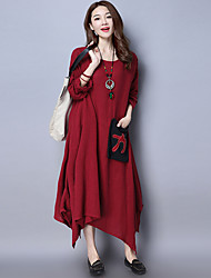 2017 printemps nouveau vent national rétro coton irrégulier robe grande jupe robe