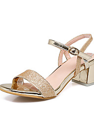 Da donna-Sandali-Matrimonio Casual Serata e festa-Comoda Club Shoes-Quadrato-Lustrini Materiali personalizzati-
