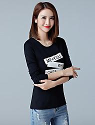 2017 primavera y otoño nuevas mujeres&# 39; s t-shirt camiseta coreana slim bottoming camisa de algodón de manga larga camiseta mujer