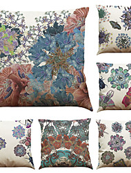 Set of 6  Creative Insect Pattern  Linen Pillowcase Sofa Home Decor Cushion Cover  Throw Pillow Case (18*18inch)