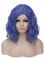 Donna Parrucche sintetiche Pantaloncini Blu Parrucca naturale Parrucca per festa Parrucca di Halloween costumi parrucche