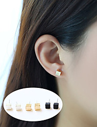 cheap -Women's Stud Earrings - Basic Gold / Black / Silver For Party / Daily / Casual