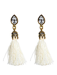 cheap -Women's Drop Earrings - Crystal Tassel, Fashion White / Red / Light Blue For Daily / Casual
