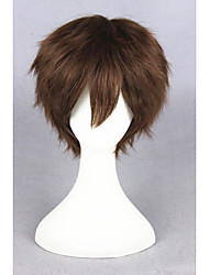 cheap -Synthetic Wig Straight Brown Women's Capless Carnival Wig Halloween Wig Cosplay Wig Short Synthetic Hair