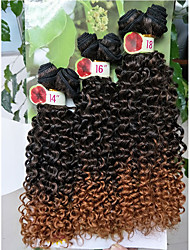cheap -synthetic kinky curly hair 6pieces/pack synthetic deep curly ombre purple curly hair bundles promotion price  synthetic jerry curl weave 1pack