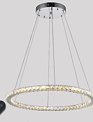 Dimmable LED Ring Crystal Pendant Light Ceiling Chandelier Lights Indoor Lamp Lighting Fixtures 30W with Remote Control