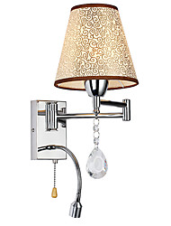 cheap -LightMyself Wall Lamp for Bedroom Reading Lamp Fabric Lamp Modern/Comtemporary Country Chrome Feature for Crystal Swing Arm