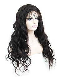 150% Density 20inch Long Natural Body Wave 100% Indian Remy Human Hair Gluelss Lace Front Wigs