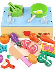 abordables -Sets Jouet Cuisine Nourriture Factice / Faux Aliments Légumes Magnétique Plastique Fille Enfant Cadeau 22pcs
