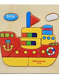 cheap -Educational Flash Cards Jigsaw Puzzle Wooden Puzzles Pegged Puzzles Educational Toy Animals DIY Fun Classic Cartoon Children's Gift