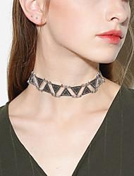 Mujer Gargantillas Collares Declaración Joyas Forma Geométrica Forma de Triángulo Legierung Diseño Básico Joyería Destacada Estilo popular