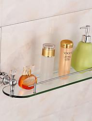 Недорогие -Полка для ванной Высокое качество Латунь Стекло 1 ед. - Гостиничная ванна