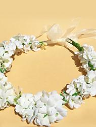 baratos -Cetim Headbands / Flores / Grinaldas com 1 Casamento / Ao ar livre Capacete