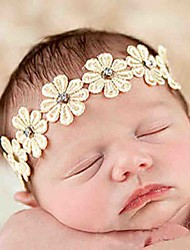 Girls European And American Popular Hair Accessories With High Quality Diamond Star Flower Hair Band (Hair Band Color Random)