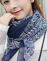 Houndstooth Korea Cotton and Linen Retro Scarf Shawl Thin Long Rectangle Women's Beach UV Sunscreen Bohemia Retro Print Scarves