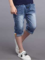 cheap -Boys' Daily Solid Jeans,Cotton Rayon Summer Blue