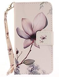 abordables -Funda Para Apple iPhone 7 Plus iPhone 7 Soporte de Coche Cartera con Soporte Flip Diseños Funda de Cuerpo Entero Flor Dura Cuero de PU