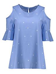 cheap -Women's Cut Out Daily Casual All Seasons Shirt