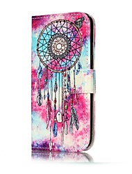For Samsung Galaxy A3(2017) A5(2017) Case Cover Wind Chimes Pattern Painted Card Holder PU Leather Material Mobile Phone Case A3(2016) A5(2016)