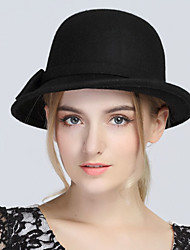 cheap -Women's Vintage Casual Wool Bowler/Cloche Hat - Solid
