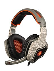 sades SA-917 professionel gaming headset surround stereo hovedtelefoner USB-stik med mikrofon til pc laptop