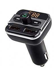 Upgarde Bluetooth Handsfree calling FM Transmitter music player support TF / U disk dual USB car charger universal
