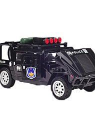 cheap -Toy Cars Race Car Police car Toys Simulation Pull Back Vehicles Music & Light Car ABS Metal Alloy Metal Pieces Kids Boys Gift